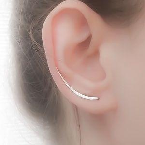 Long Textured Ear Climbers
